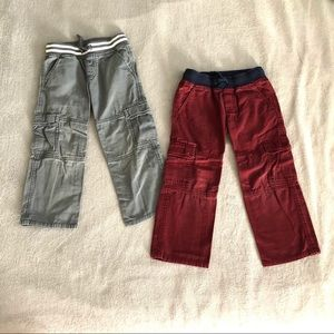 Gymboree Boys Pull On Cargo Pants(lot of 2 pairs)